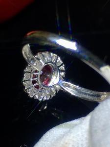 Image 5 - Jóias finas puro 18 k ouro branco real natural pombo sangue vermelho rubi 0.98ct diamantes jóias anéis femininos para mulheres anel fino