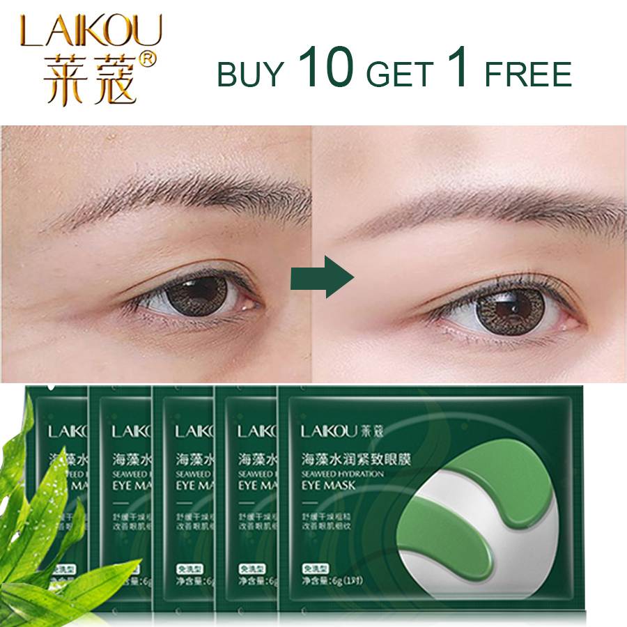 LAIKOU Patch For Eye Mask Hydrogel Eye Patch Green Mask Anti Wrinkle Eye Bags Dark Circles Face Gel Eyes Creams Skin Care Mask
