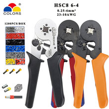 Crimping tools pliers electrical tubular terminals box mini clamp HSC8 6-4 0.25-6mm2 23-10AWG 6-4B/6-4 0.25-6mm2 16-4 tools sets hsc8 6 4 hsc8 6 4a mini type self adjustable crimping plier 0 25 6mm2 terminals crimping tools multi tools hands pliers
