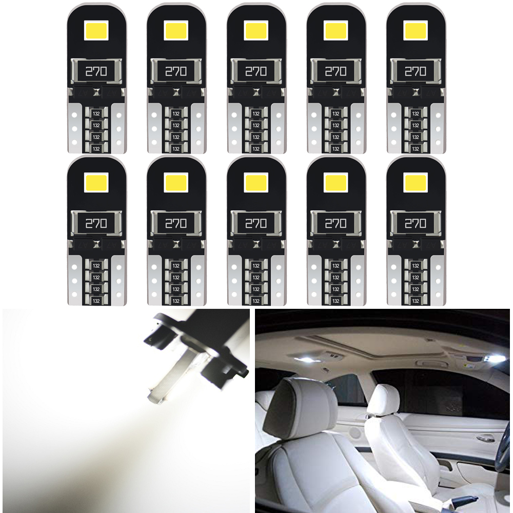 10pcs <font><b>LED</b></font> T10 W5W 194 168 2835 SMD <font><b>Led</b></font> <font><b>Light</b></font> Car Interior <font><b>Light</b></font> for <font><b>peugeot</b></font> 206 607 306 406 <font><b>307</b></font> sw partner 2008 3008 2012 2011 image