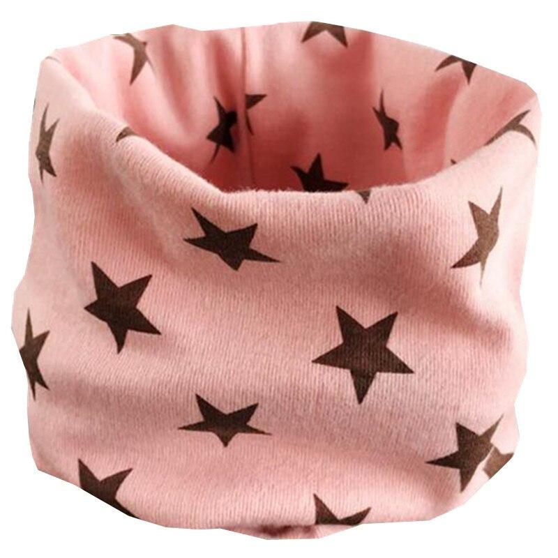 Осенне-зимний детский хлопковый плюшевый шарф, детский шарф для девочек, шарфы для мальчиков и девочек, детский воротник, детский волшебный шейный платок с круглым вырезом - Цвет: pink star