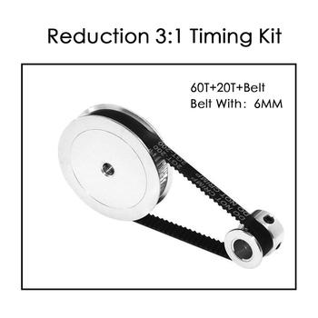 GT2 Timing Belt Pulley 60teeth 20teeth  5mm/8mm Reduction 3:1/1:3 belt width 6mm for 3D printer accessories - discount item  20% OFF Office Electronics