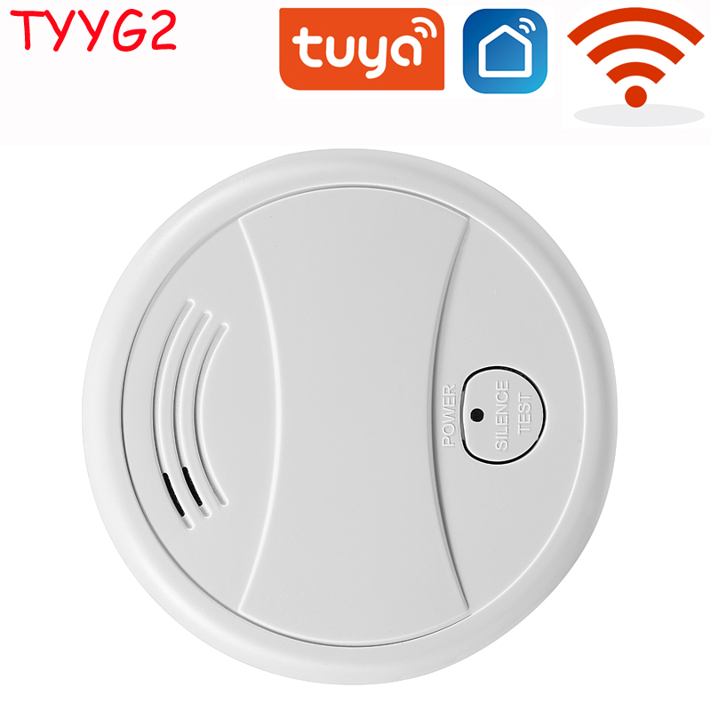Independent Smoke Detector Sensor Fire Alarm Home Security System Firefighters Tuya WiFi/433mhz Smoke Alarm Fire Protection 2