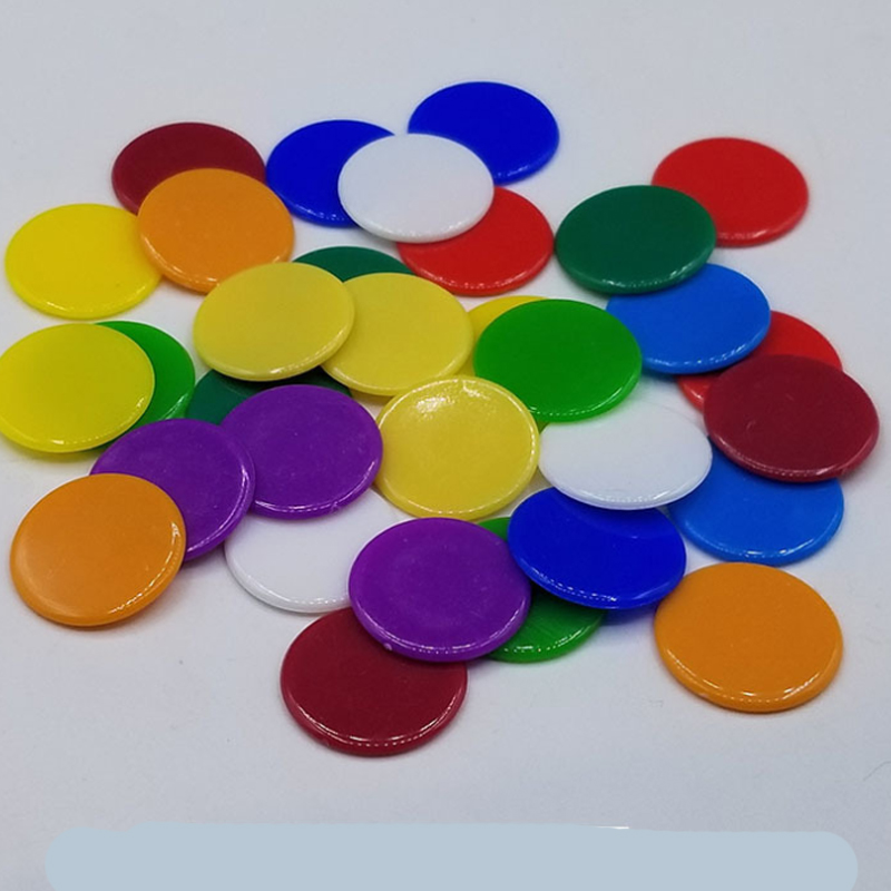 9 Colors 19mm Creative Gift Accessories Plastic Poker Chips Casino Bingo Markers Token Fun Family Club Game Toy 50PCS/Set
