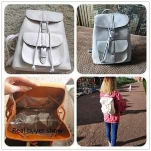 Image 4 - Miyahouse PU skórzane plecaki modne kobiece sznurkiem torby podróżne Retro torby szkolne kobiety wysokiej jakości plecak Mochila