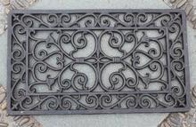 Decorative Wrought Iron Scroll Door Mat Outdoor Rectangular Garden, 33 x 57cm Cast Craft Free Shipping