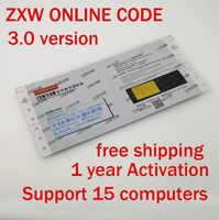 En línea ZXW equipo 3,0 Software código de autorización Digital Zillion x Diagrama de Circuito de trabajo para iPhone iPad Samsung usar 1 año