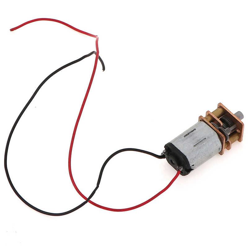 1 unidad 5V engranaje de acero N20 Mini precisión DC motored Motor d-axis Speed Motor de reducción
