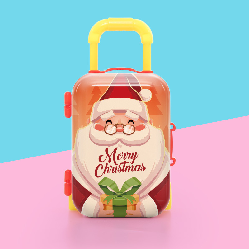New Children's Mini Trolley Case Christmas Decoration Gifts Creative Surrounding Gift Toys Small Coin Purse Children's Gift