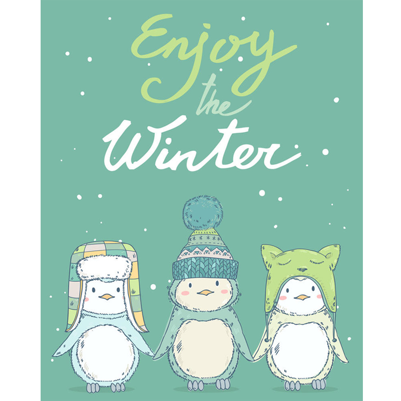 Christmas Penguin Clear Stamps For Scrapbooking Card Making Photo Album Silicone Stamp DIY Decorative Crafts