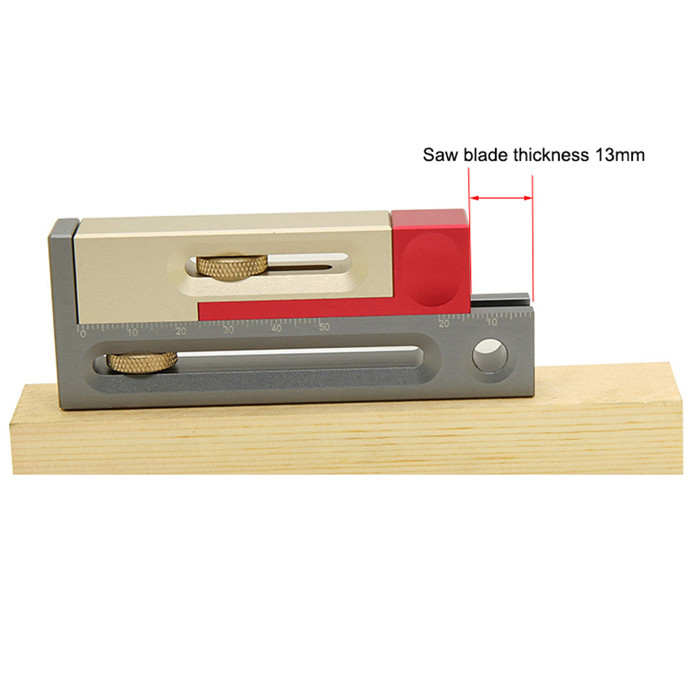 Table Saw Slot Adjuster Mortise And Tenon Tool Woodworking Movable Measuring Block Tenon Maker Length Table Saw Slot Adjuster