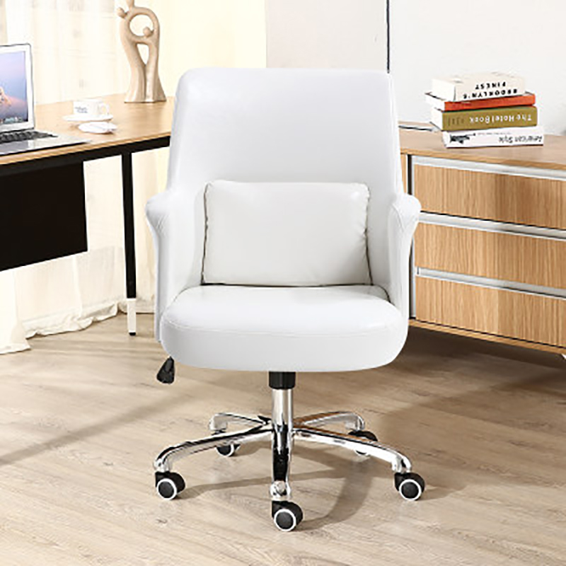 Computer Chair Home Office Staff Chair Lifting Backrest Swivel Chair Study Conference Chair Leather Seat Ergonomic Chair