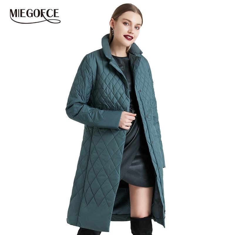 MIEGOFCE 2019 printemps femmes Parka manteau chaud veste femmes mince coton matelassé manteau avec col debout nouvelle Collection de concepteur