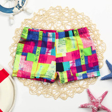 Ярко-розовый Детский Эластичный пляжный купальный костюм для маленьких мальчиков, плавки, шорты, одежда, камуфляжные шорты, купальный костюм, пляжная одежда#1