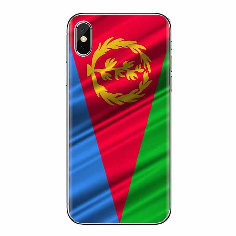 สำหรับ Samsung Galaxy S3 S4 S5 Mini S6 S7 Edge S8 S9 S10 Plus หมายเหตุ 3 4 5 8 9 นุ่มโปร่งใสกรณี Eritrea Flag world บินแบนเนอร์
