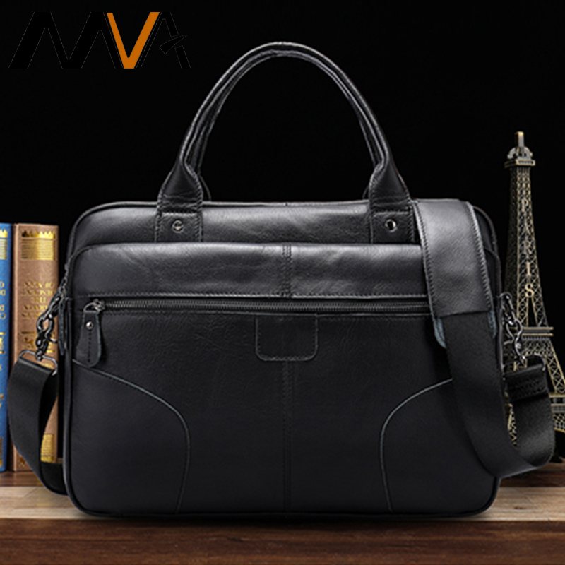 MVA Bag Men's Genuine Leather Shoulder Bags For Men Messenger Bag Man Laptop Mens Crossbody Bags Business Office Men Handbag 86