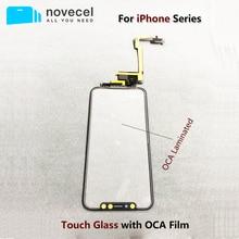 Groothandel Voor Apple Iphone 11 Pro X Xs Max Geen Behoefte Lassen Touch Screen + Oca Digitizer Voor Glas Lens outer Panel Flex