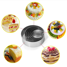 Cutter Cake-Ring-Mold Mousse Cookie Stainless-Steel Round Gum-Paste Wedding-Cake-Tools