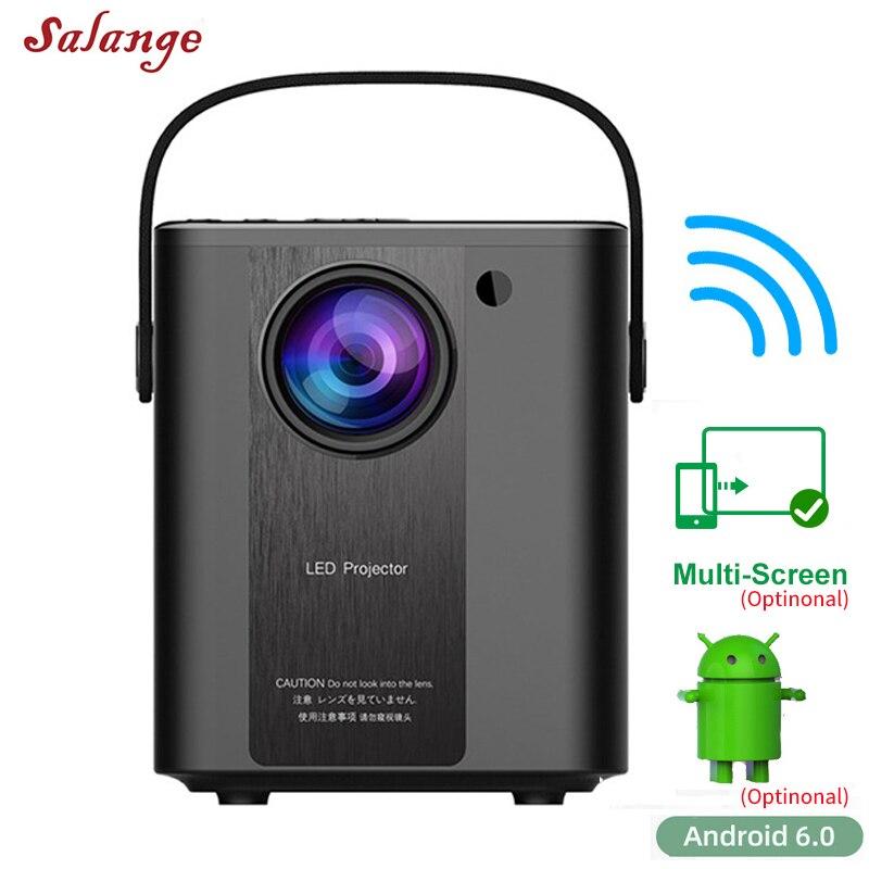 Salange P500 портативный проектор для домашнего кинотеатра светодиодный проектор для наружных фильмов Proyector Suport 1080P Full HD 3D видео проектор