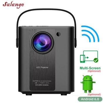 Salange-Proyector portátil P500 para cine en casa, Proyector Led para películas al aire libre, compatible con 1080P, Proyector de vídeo 3D Full HD