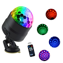 Mini Disco Ball Light USB LED Bar Stage Lighting RGB Sound Activated DJ Projector Party Lights for Car Home KTV