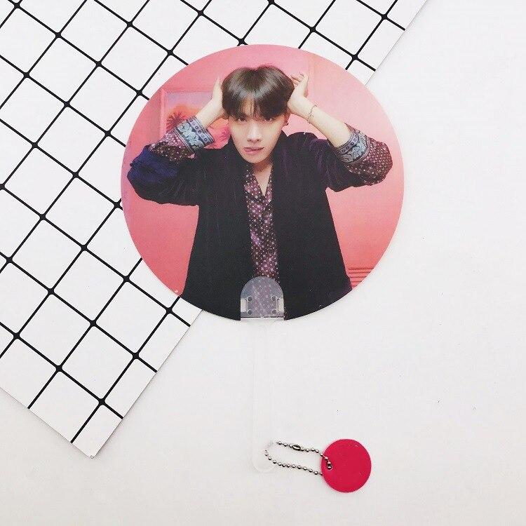 Kpop Bangtan Boys WORLD TOUR такие же полупрозрачные вентиляторы любят себя ответят на концерты те же вентиляторы 18X28 см - Цвет: 13