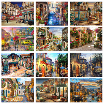 Evershine 5D DIY Diamond Painting City Landscape Embroidery Full Square Drill Cross Stitch Mosaic Rhinestone Pictures Crafts Kit