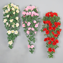 Rose  Artificial Wall Flowers 2Pcs Wedding Centerpieces Low Price Clearance Romantic Valentine Home Decoration Accessories