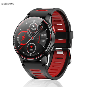 Image 1 - SENBONO S20  IP68 Waterproof Smart Watch Fitness Tracker Heart Rate Monitor Smart Clock Men Women New Smartwatch For Android IOS