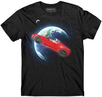 Koszulka SpaceX koszulka Roadster Elon Musk koszulka tesli Falcon Heavy NASA tanie i dobre opinie Na zakupy CN (pochodzenie) Na wiosnę i lato Z okrągłym kołnierzykiem tops SHORT COTTON Na co dzień Drukuj