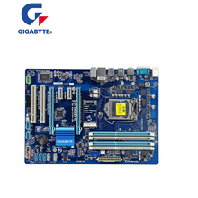 Б/у оригинальная материнская плата Z77 для Gigabyte GA-Z77P-D3 DDR3 LGA1155 встроенный гигабитный Ethernet Z77P-D3