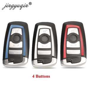 jinyuqin 4 Buttons Smart Remote Keyless Shell for BMW F CAS4 5 Series 7 Series Smart Key Fob Case(China)