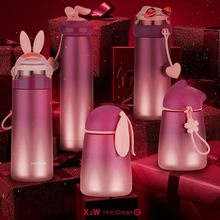 Vacuum flask 300-350ml vacuum flask vacuum flask stainless steel kettle wide mouth sports travel bottle eagle mouth stainless steel vacuum pot kettle black silver 1500m