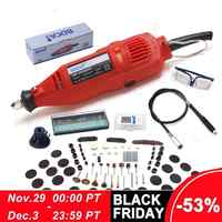 Bdcat 180w gravura elétrica dremel ferramenta rotativa velocidade variável mini máquina de moagem broca com 180 pçs ferramentas elétricas acessórios