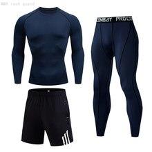 Ensemble de Jogging pour hommes, vêtements d'hiver, collants de marque, Leggings chauds, chemise, survêtement long, tailles 4XL