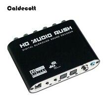 Hd 5.1 decodificador de áudio ac3 óptico para estéreo surround analógico decodificador de áudio hd rush player decodificador de áudio adaptador para xbox 360 dvd