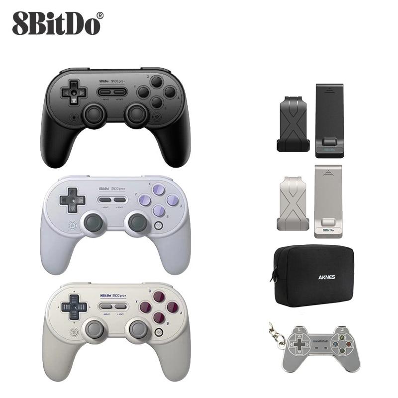 8bitdo SN30 PRO + Joystick Sans Fil Bluetooth À Distance Contrôleur de Jeu Gamepad pour Windows/Android/macOS/Nintendo Switch