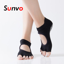 High Quality Yoga Socks Women Dance Pilates Yoga Sports Anti-Slip Protector Foot Pain Relief Pad Plantar Fasciitis Cotton Socks
