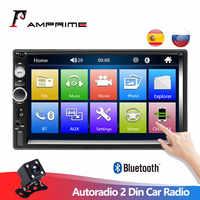 "AMPrime Autoradio 2 Din Auto Radio 7 ""Touch Screen Dash MP5 Bluetooth USB Auto Digitale 2Din Multimedia Player Hinten view Kamera"