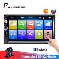 AMPrime Autoradio 2 Din Car Radio 7 Touch Screen Dash MP5 Bluetooth USB Car Digital 2Din Multimedia Player Rear View Camera