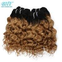 BHF-pelo brasileño rizado de onda profunda, extensiones de cabello humano 100%, 50g, Remy, Funmi weft, puede hacer una peluca