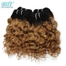 BHF cheveux brésiliens vague profonde bouclés 100% naturel cheveux humains paquets 50g Remy Funmi trame peut faire une perruque