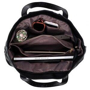 Image 5 - Sac à épaule en PU souple pour dames, sacoche européenne et américaine de bonne qualité de luxe, sacs à main de Shopping grande capacité 2019