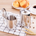 Stainless Steel Milk Frothing Pitcher with Lid Espresso Coffee Barista Craft Latte Cappuccino Milk Cream Cup Frothing Jug|Milk Jugs| |  -