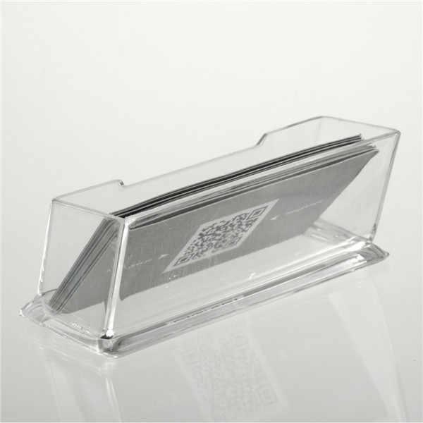 1 Unidad de Soporte de tarjeta de visita de acrílico transparente soporte de exhibición escritorio mostrador superior venta