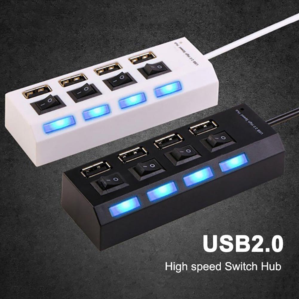 High Speed Multi USB Hub 2.0 Mini Hub USB Splitter 4/7 USB Ports With ON/OFF Switch Hab Support Power PC Computer Accessories