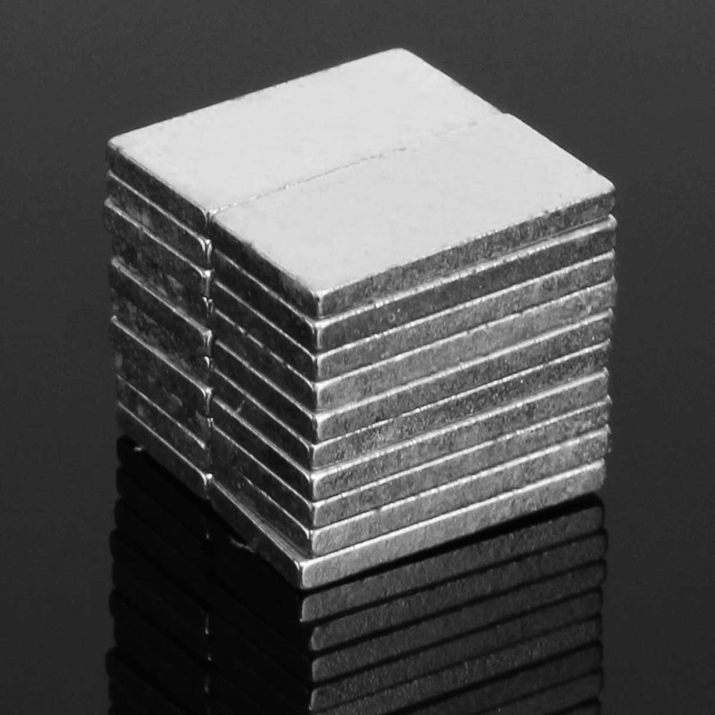 20Pcs Multipurpose 10x5x1mm Strong Rectangle Plate N42 NdFeB Rare Earth Magnet Super Strong Magnetic Neodymium Magnet Blocks