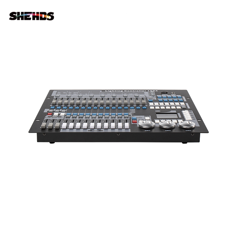 SHEHDS DMX512 Stage Light Controller Dongle 1024 Channel With Flight Case PC/SD Offline Mode Light Jockey Dmx Controller Disco