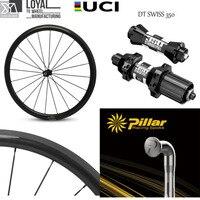 Elite DT Swiss 350 Series Carbon Road Bike Wheels Aero Wider Rim With Pillar 1423 Spoke UCI Quality 30/35/38/45/47/50/55/60/88mm