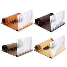 ALLOYSEED 12 inch Log Mobile Phone 3D HD Screen Amplifier Stereoscopic Magnifying Glass Folding Enlarger Phone Bracket